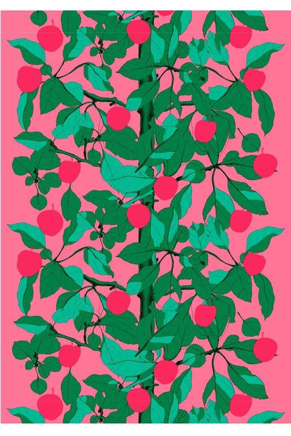 Onnen Omenapuu cotton fabric | Marimekko Spring 2013