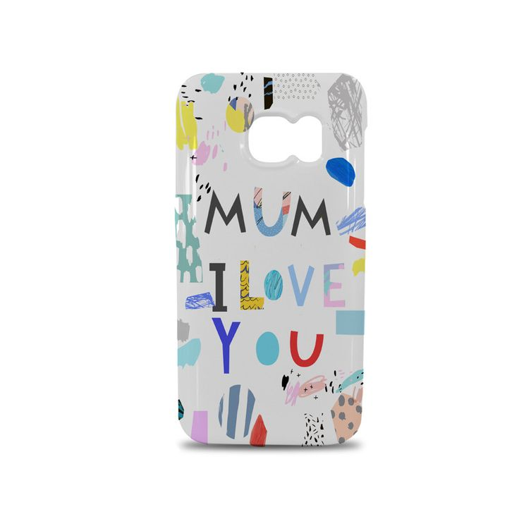 Samsung Galaxy S7 Mobile Phone Case - personalised with your child's artwork - perfect gift for mummy from your little one's by ScribbleGifts on Etsy