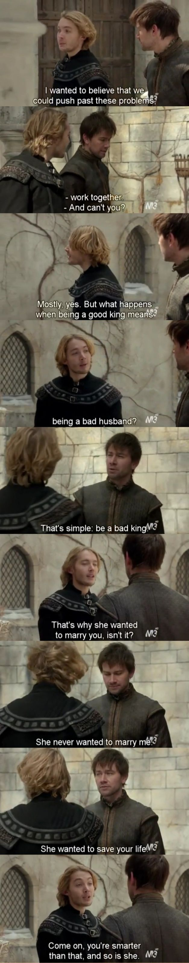 Reign 1x18 Bash ( Torrance Coombs )and Francis ( Toby Regbo ) •That's also why i support Mash❤️ / Pinterest-> @leooonitaa