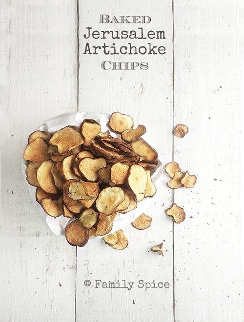 Low Carb Snack: Baked Jerusalem Artichoke Chips - Family Spice