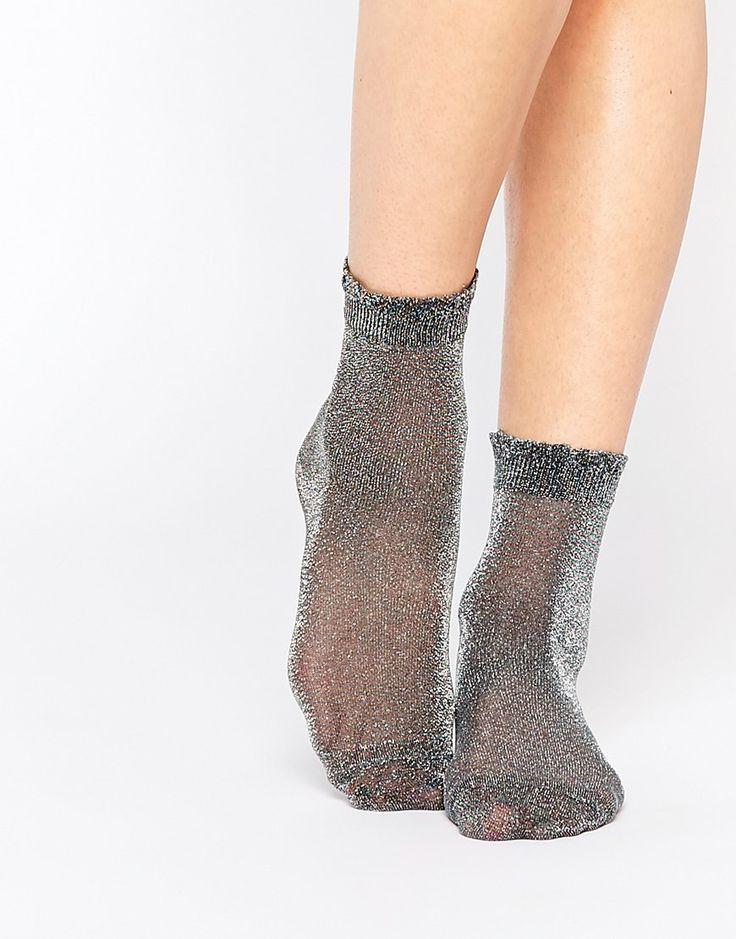 Image 1 ofMonki Lurex Socks
