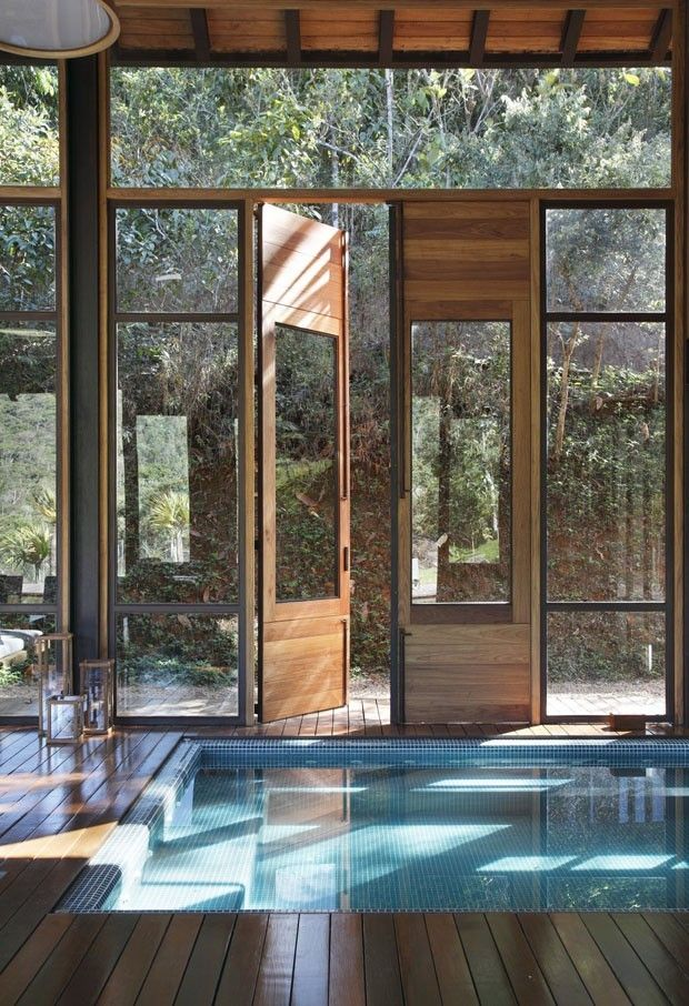 #Pool and Door Detail #interior #architecture