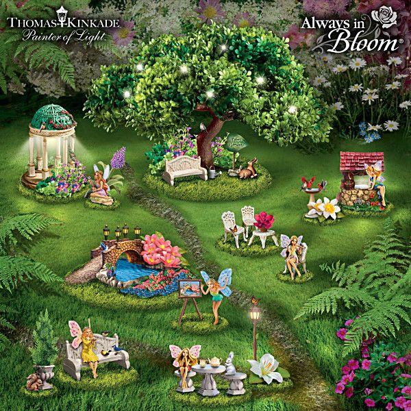 Thomas Kinkade Tiny Garden Treasures Figurine Collection