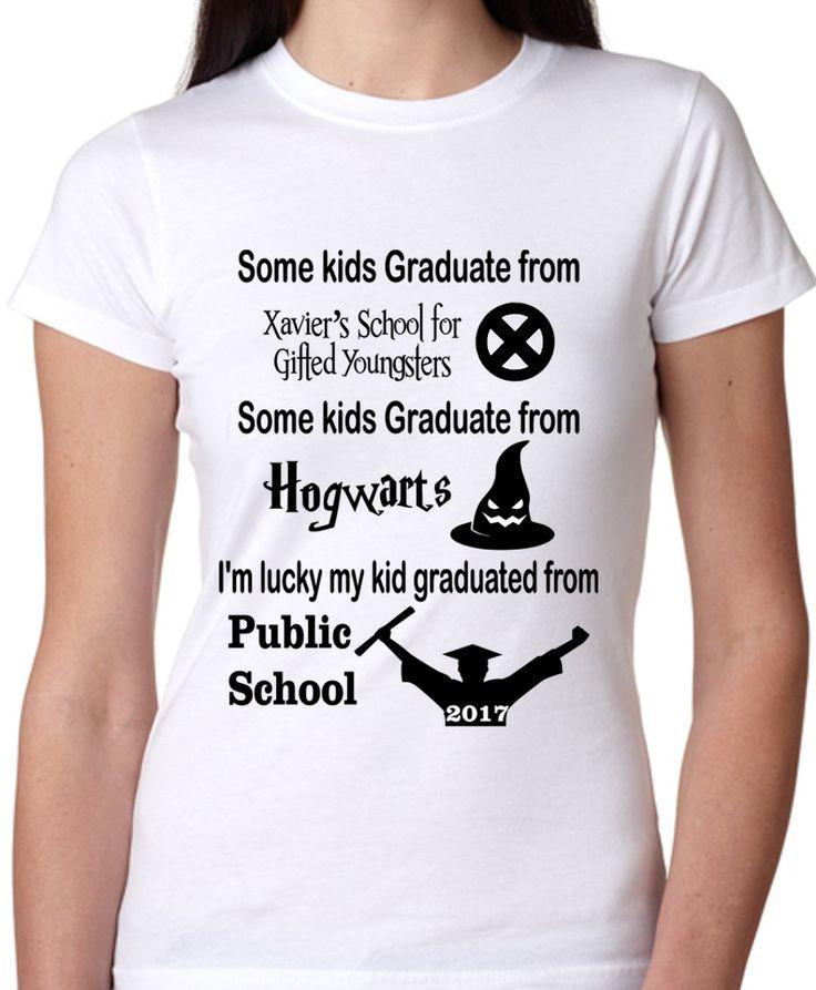 Student: Some Kids Graduate from Hogwarts or Xmen Shirt