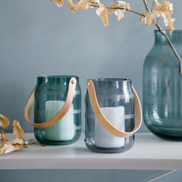 Omaggio Glass Lantern Steel Blue / Omaggio / New