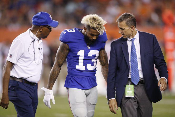 Giants WR Odell Beckham Jr. hurts leg in first half against Browns