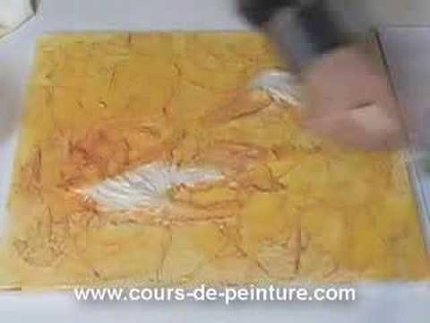 cours de peinture - technique mixte - 3eme partie