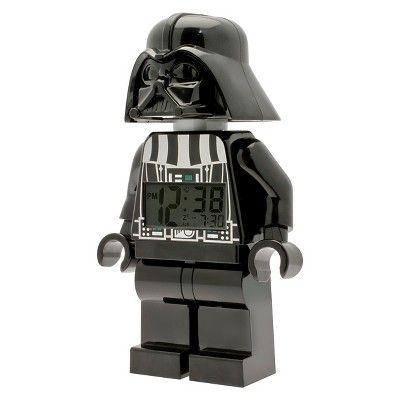 Lego Star Wars Darth Vader Kids Moveable Minifigure Alarm Clock - Black