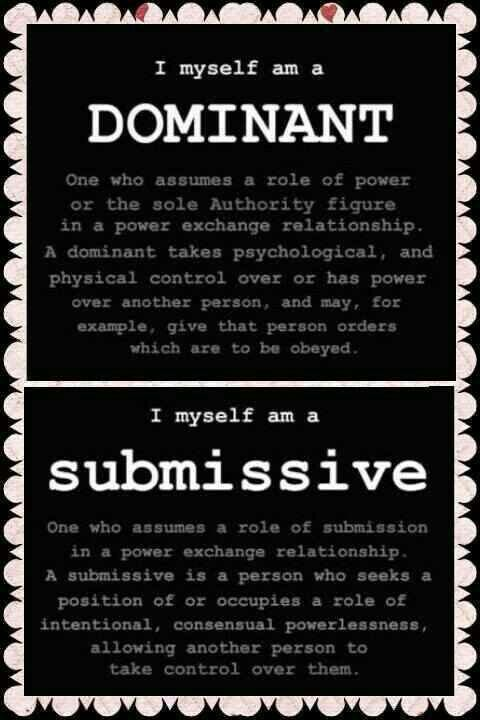 dominant submissive relationship definition