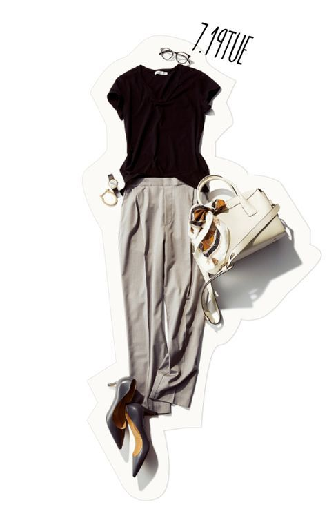 連休明けは楽ちんさ重視! 涼しげきちんとパンツスタイルのヒミツは、バッグスタイルにあり♡-@BAILA ワタシを惹きつける。モノがうごく。リアルにひびく。BAILA公式サイト|HAPPY PLUS(ハピプラ)集英社