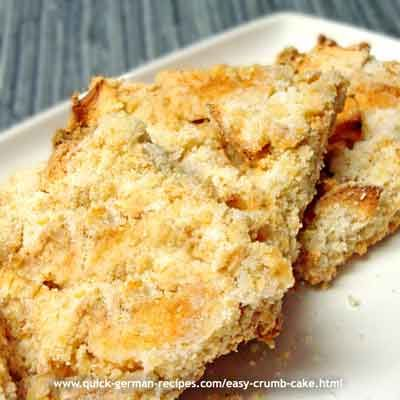 Easy German Crumb Cake - http://www.quick-german-recipes.com/easy-crumb-cake.html
