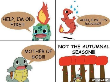 Pokemon weaknesses: some are more practical than others. - 9GAG