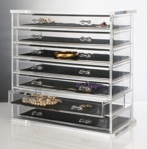 Deluxe 7 Drawer Acrylic Jewelry Chest Or Cosmetic
