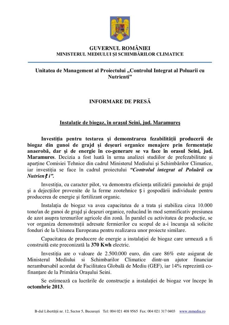 informare-de-presa-biogaz by Campania  INPCP via Slideshare