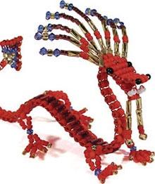 A playful beaded dragon to make!