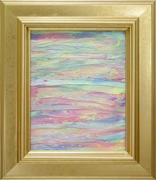 My Unicorn Life is a colorful abstract painting by Heather Miller of WhiteRose's Art.  It features a rainbow assortment of pastel colors, rich textures, and comes with a beautiful gold frame. It's the perfect addition to your home or office decor.