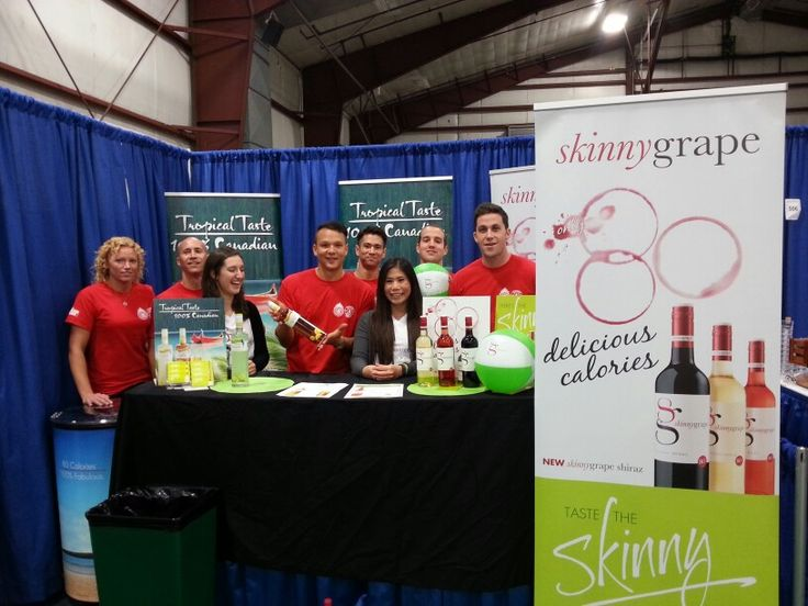 Our Hall of Flame Calendar models hanging out with our great sponsors from Skinny Grape