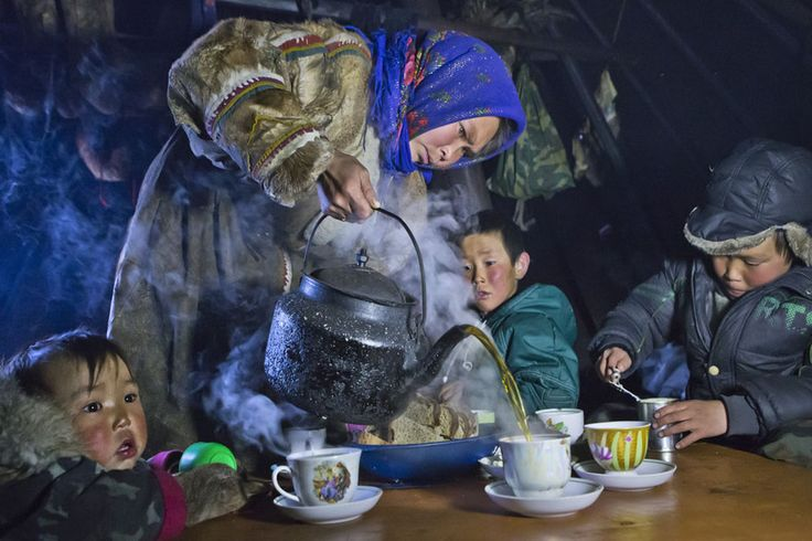 Tea time on the Yamal peninsula