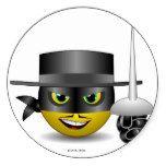 Zorro Pegatina Redonda