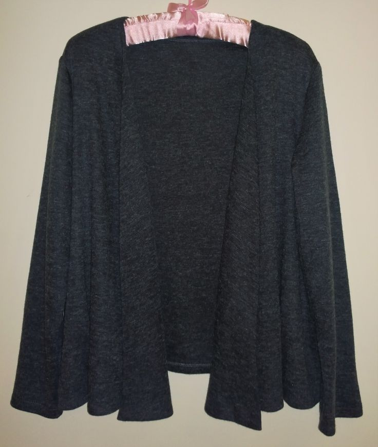 McCalls 7331 - charcoal grey wool blend knit from Spotlight - July 2016