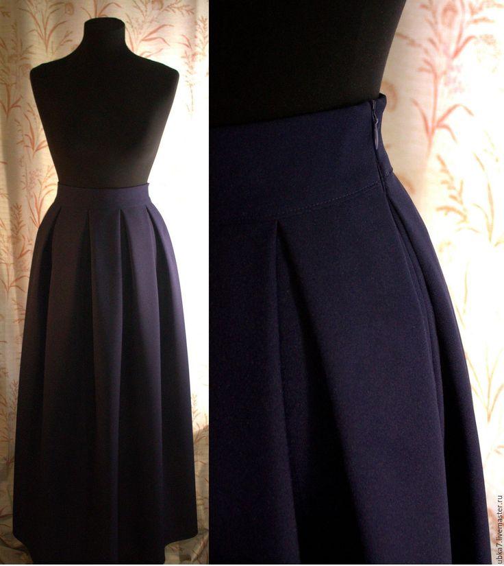 Купить Юбка макси в складку - комбинированный, юбка, юбка в складку, юбка макси, юбка в пол