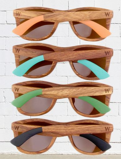 Woodzee - Sierra.  Pearwood sunglasses.  Amber lenses. Paint dipped series.  Wood sunglasses.