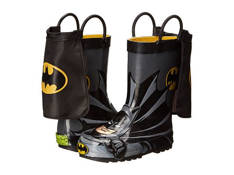 ummm the cape is a little over the top...but cute nonetheless...Western Chief Kids Batman Everlasting Rain Boot (Toddler/Little Kid/Big Kid)