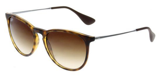 Ray-Ban Erika RB4171 865-13 - Zonnebril - - Rubber Havana / Poly Brown Gradient - Medium