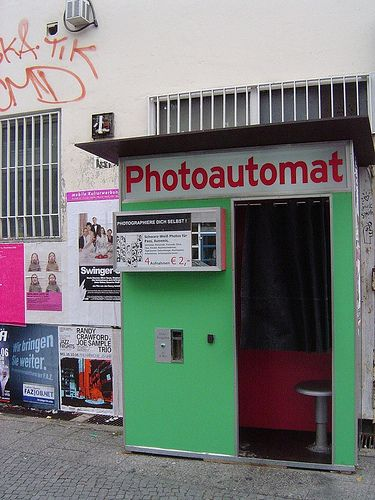One of my favorite things about Berlin: the fact that they have photo booths from the '60s all throughout the city. Makes for a fun and cheap souvenir!