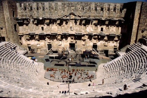 Aspendos Theatre - Antalya region, Southern Turkey