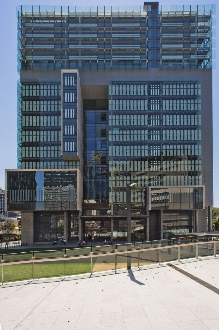 Queen Elizabeth II Courts of Law: The design provides a radical departure from traditional court design, providing an open, accessible and transparent design in sharp contrast to the 1970s precast concrete courthouse it replaces #boh2014 #unlockbrisbane #brisbane #discoverbrisbane