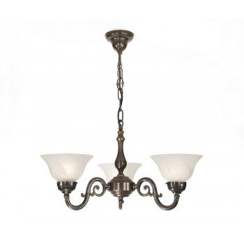 Classic British Lighting GRANDE aged brass 3 light Victorian ceiling pendant  code:CBL-CH005/SHAL25WH £330.66
