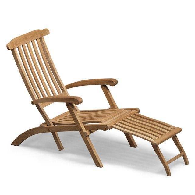 Steamer Deck Chair With Images Deck Chairs Wooden Patio Furniture Modern Outdoor Furniture