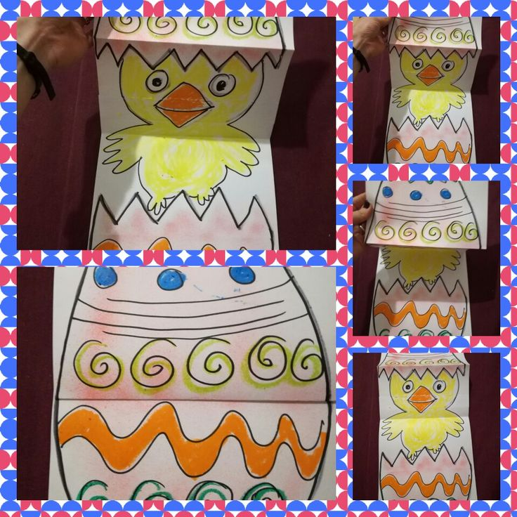Chick pop out from the egg! Easy Easter craft