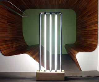 This post modern vertical fluorescent lamp is a bold interpretation for a lighting solution, inspired by Gian Nicola's Gigante floor lamp (c.1981). Today, Nicola's...