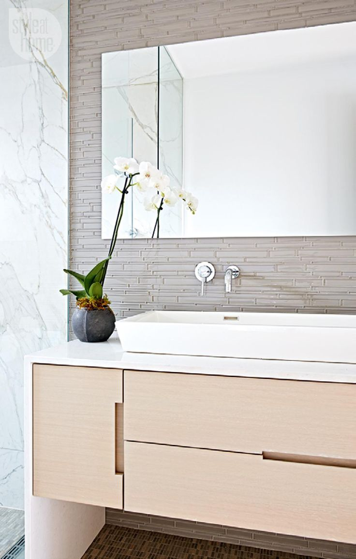 Sleek master bathroom {PHOTO: Stacey Brandford}