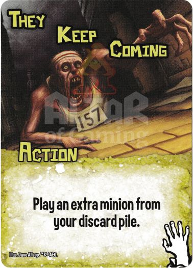 They Keep Coming - Zombies - Smash Up Card   Altar of Gaming