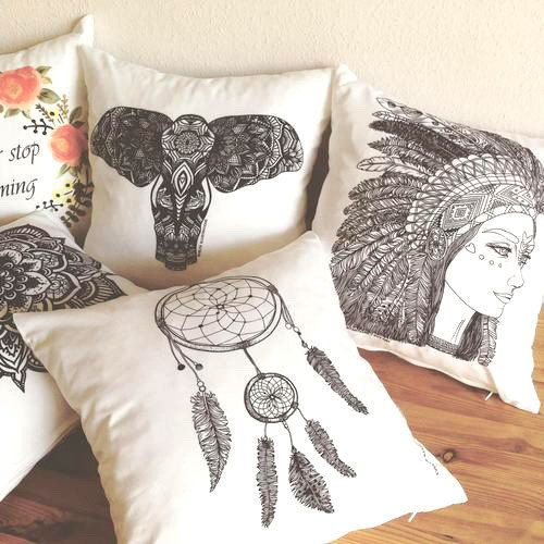 FREE SHIPPING!!! ❁ ❁ ❁ SET OF 2 COLORING PILLOW COVERS ❁ ❁ ❁ SELECT ANY 2 PATTERN!  We create our pillows for you to decorate your home & have fun coloring them in with fabric markers. All designs are originally HAND-DRAWN by Evelyn, then printed on premium matte satten.  This listing is for a DIY/CIY decorative pillow cover with a 100% hand-drawn illustration. So, the cover is a coloring pillow cover, it works just as a page from a coloring book. This illustration was originally made to be…
