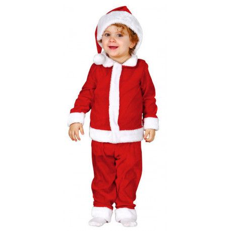 Disfraz de Santa Claus Infantil #Navidad #Papa #Noel #Bebe