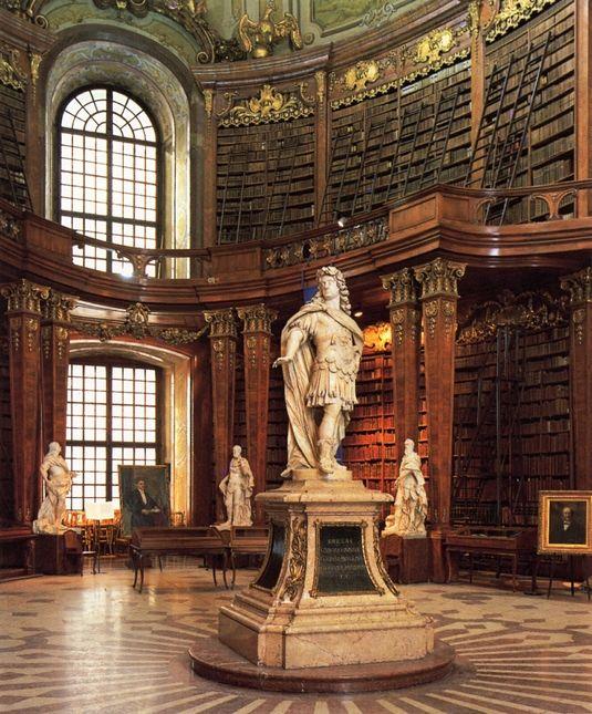 Bibliothek der Hofburg in Wien