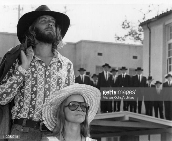 Actors (L-R) Donald Sutherland and Ellen Burstyn in a scene from the movie 'Alex In Wonderland' in 1970.