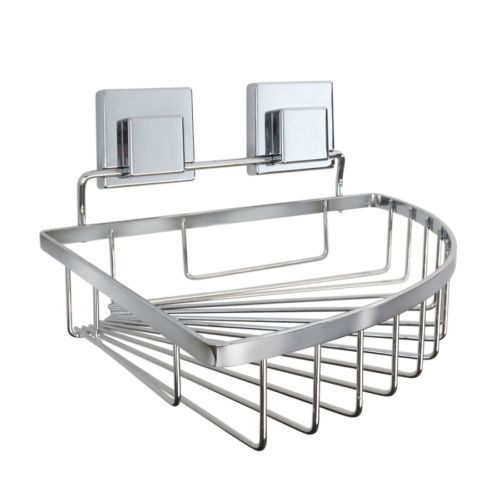 Suction Cup Steel Hanging Shower Caddy Bathroom Shelves Corner Wall Towel  Bath   Http:/