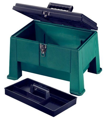 Stack On Ssg 20 20 Inch Step N Stor Step Stool Green By