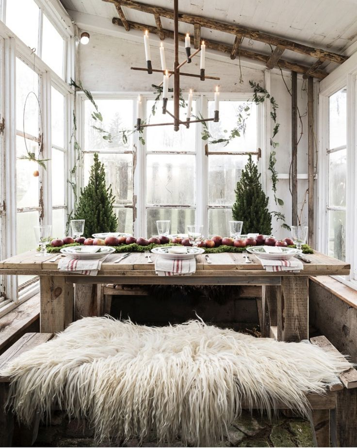 These Scandinavian design elements are right up our chimney... I mean alley #ScandinavianChristmas #AllOfTheGreeneryAndWood