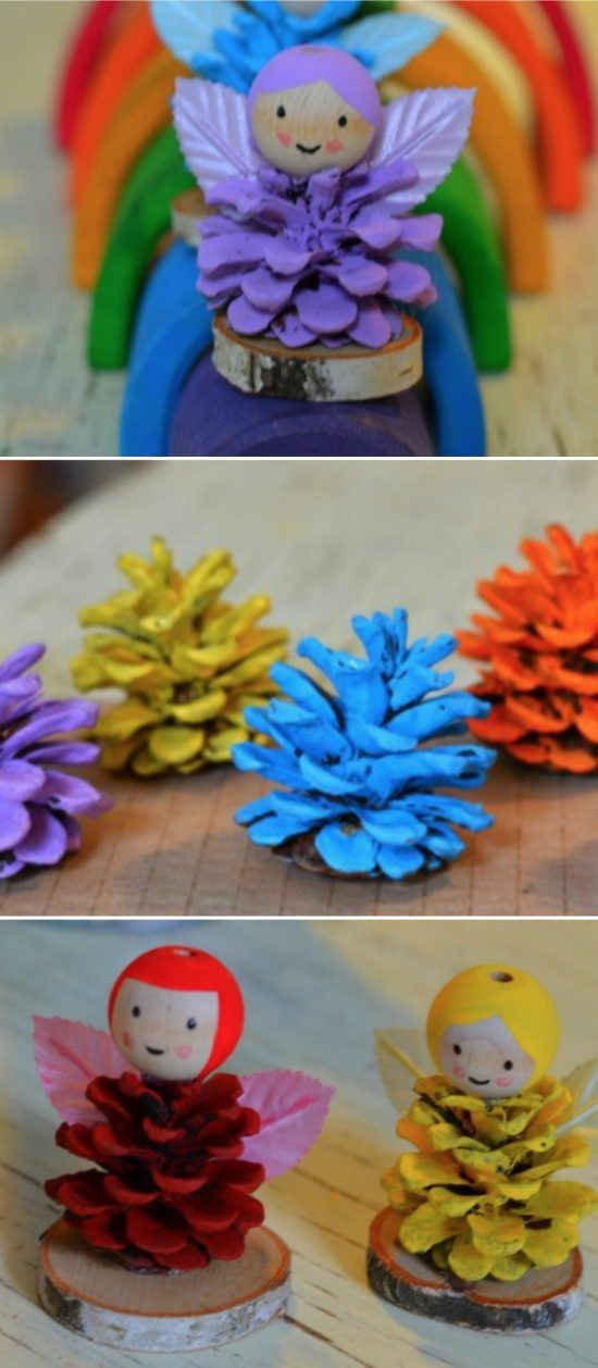 You are going to love this collection of Pine Cone Fairy Craft Ideas and there is something for everyone. Check out the fairy ornaments and the fairy houses.