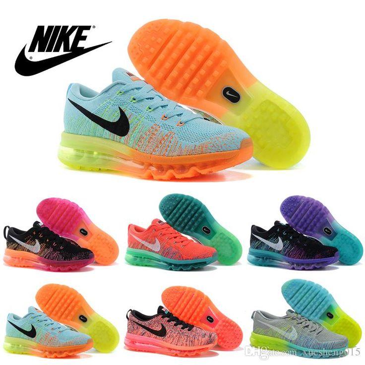Nike Women's FLYKNIT Air Max Running Shoes 100% Original Womens running shoes Cheap FLYKNIT Air Max Best Tennis Jogging Shoes