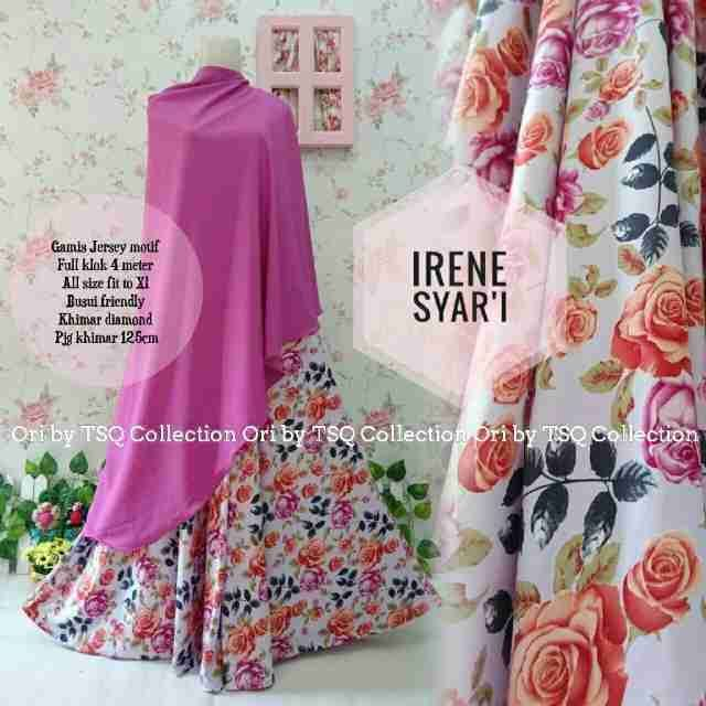 Model Baju Muslim Irene Syar'i B127 Jersey - http://bajumuslimbaru.com/baju-muslim-irene-syari-b127-jersey