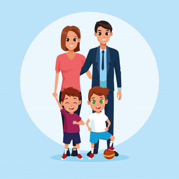 Dessins de famille et enfants Vecteur gr... | Free Vector ...