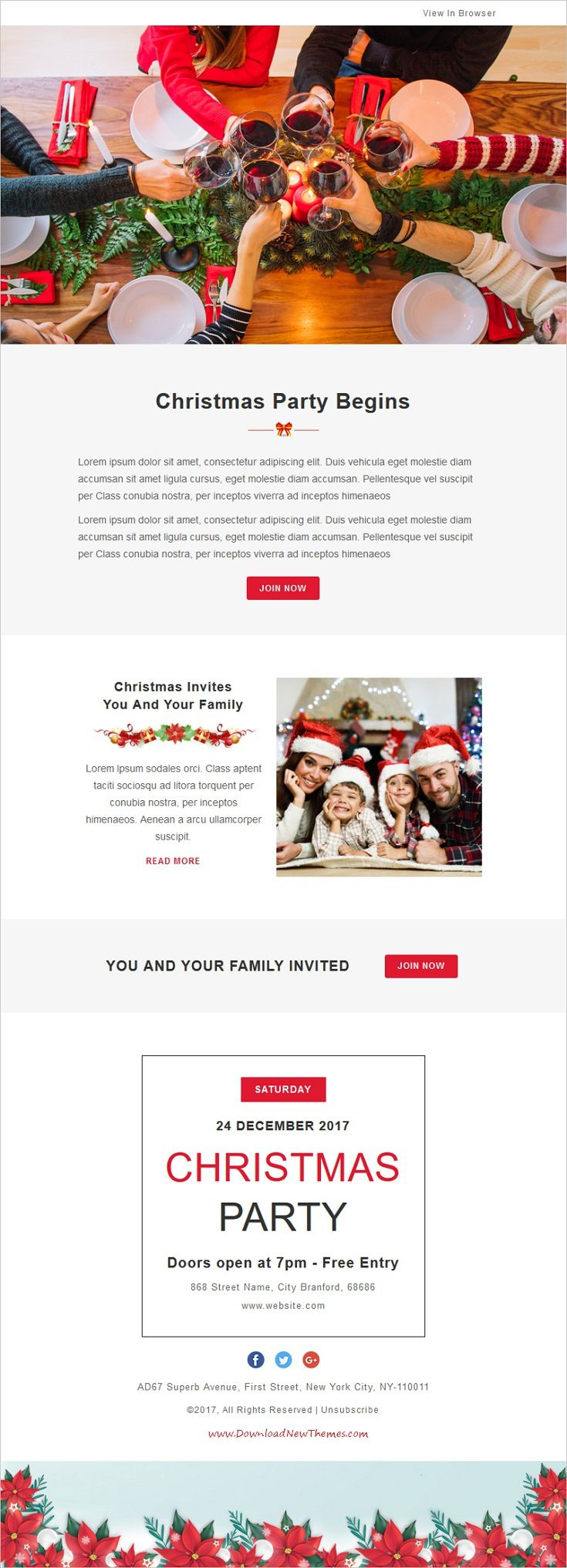 Les 170 meilleures images du tableau christmas decorations ideas festival christmas responsive email template 10 notifications with stampready builder access pronofoot35fo Gallery