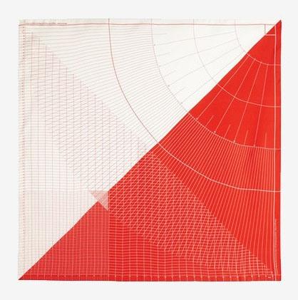 Sebastian Bergne silk scarf in red